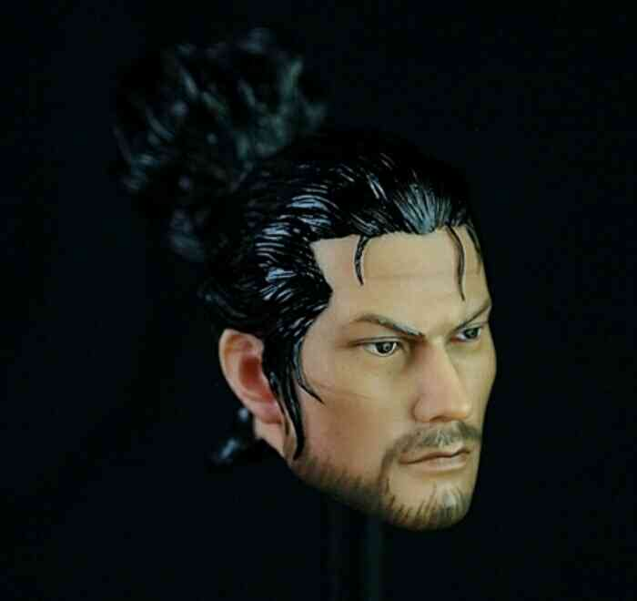 1/6 Scale Miyamoto Musashi Male Head Sculpt Model for 12'' Action Figures Bodies Accessories 1 6 blond long hair dana scully head sculpt for 12 bodies figures