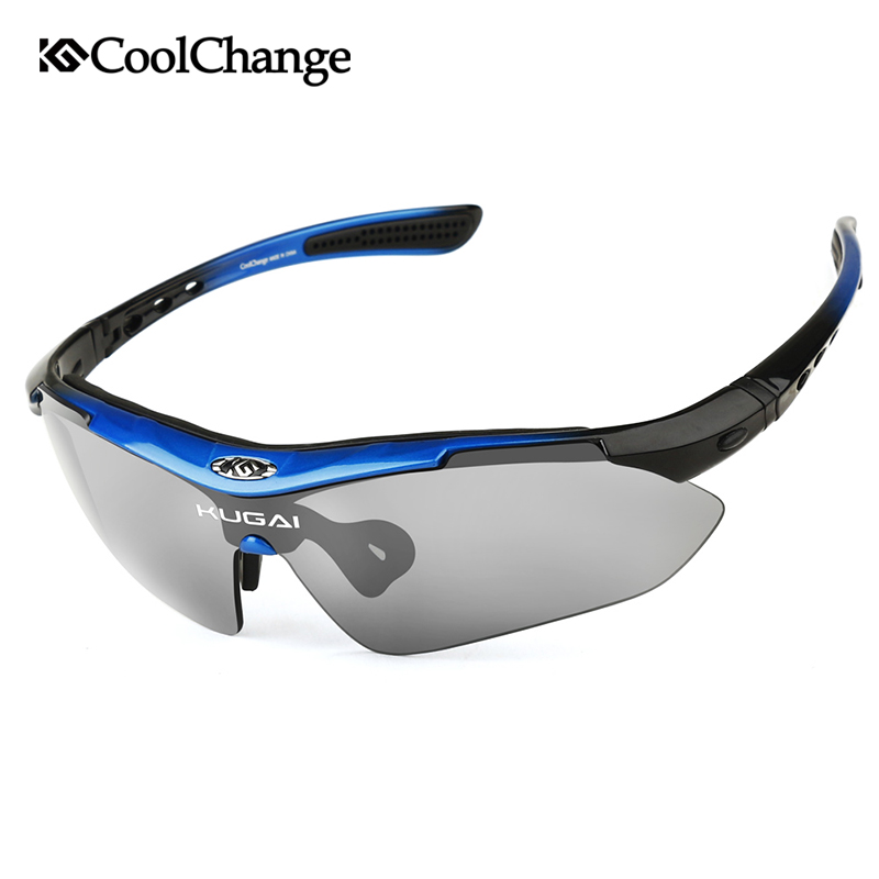 CoolChange Professional Polarized Cycling Glasses Bike Goggles Outdoor Sports Bicycle Sunglasses With 5 Lens Myopia Frame obaolay outdoor cycling sunglasses polarized bike glasses 5 lenses mountain bicycle uv400 goggles mtb sports eyewear for unisex