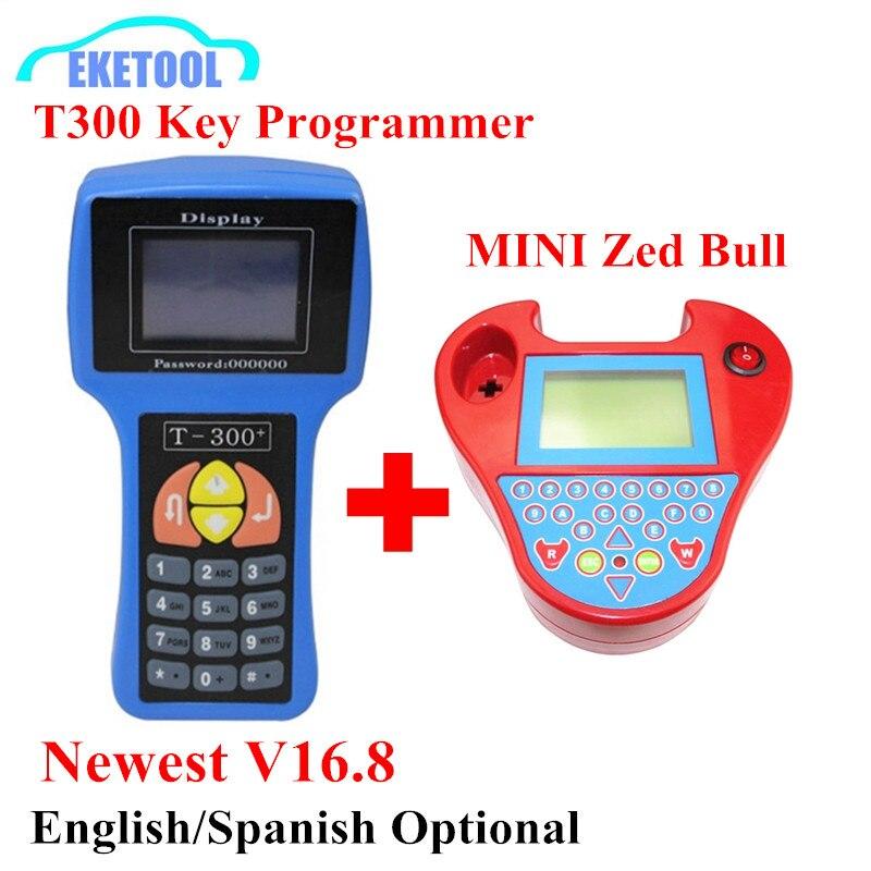 Prix pour Auto Clé Programmeur T300 Clé Programmeur V16.8 Anglais/Spansih T-300 T 300 + MINI Zed Bull Zedbull Clé De Voiture Maker Fonctionne Multi-Marque
