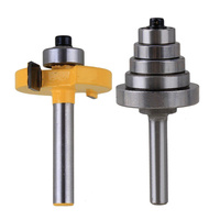 2pcs Set High Quality Cemented Carbide Rabbet Router Bite 1 4 Shank With 6 Bearing For