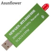 Asunflower USB 2,0 RTL SDR 0,5 PPM TCXO R820T2 RTL2832U USB AM FM программное обеспечение определение радио приемник сканер ТВ тюнер Палка VHF UHF