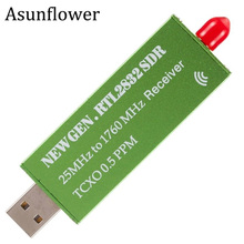 Asunflower USB 2.0 RTL SDR 0.5 PPM TCXO R820T2 RTL2832U USB AM FM Software Defined Radio Receiver Scanner TV Tuner Stick VHF UHF 100k 1 7ghz software radio full band rtl sdr receiver aviation short wave
