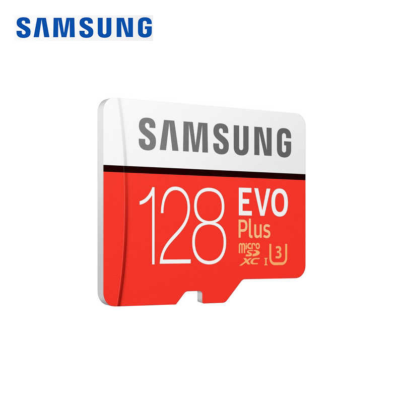 SAMSUNG Original nouveau 128 GB U3 carte mémoire Class10 Micro SD TF/SD cartes C10 R100MB/S MicroSD XC UHS-1 EVO + EVO Plus Support 4 K