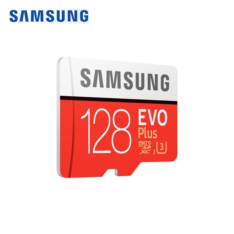 SAMSUNG Original New 128GB U3 Memory Card Class10 Micro SD TF/SD Cards C10 R100MB/S MicroSD XC UHS-1 EVO+ EVO Plus Support 4K