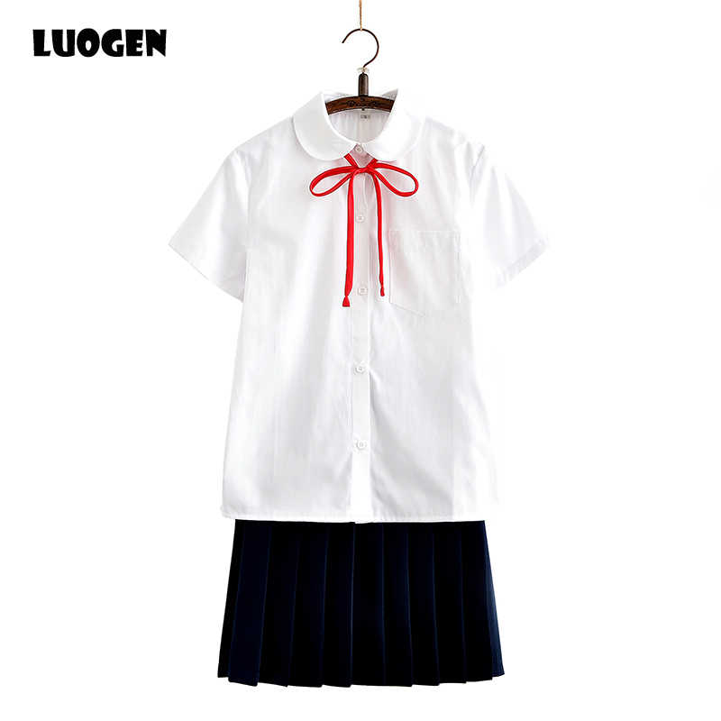 0fd2b9e7789e6d Cute Japanese School Uniform Style Lolita Sweet Girls French Toast JK Blouse  Short Sleeve Peter Pan
