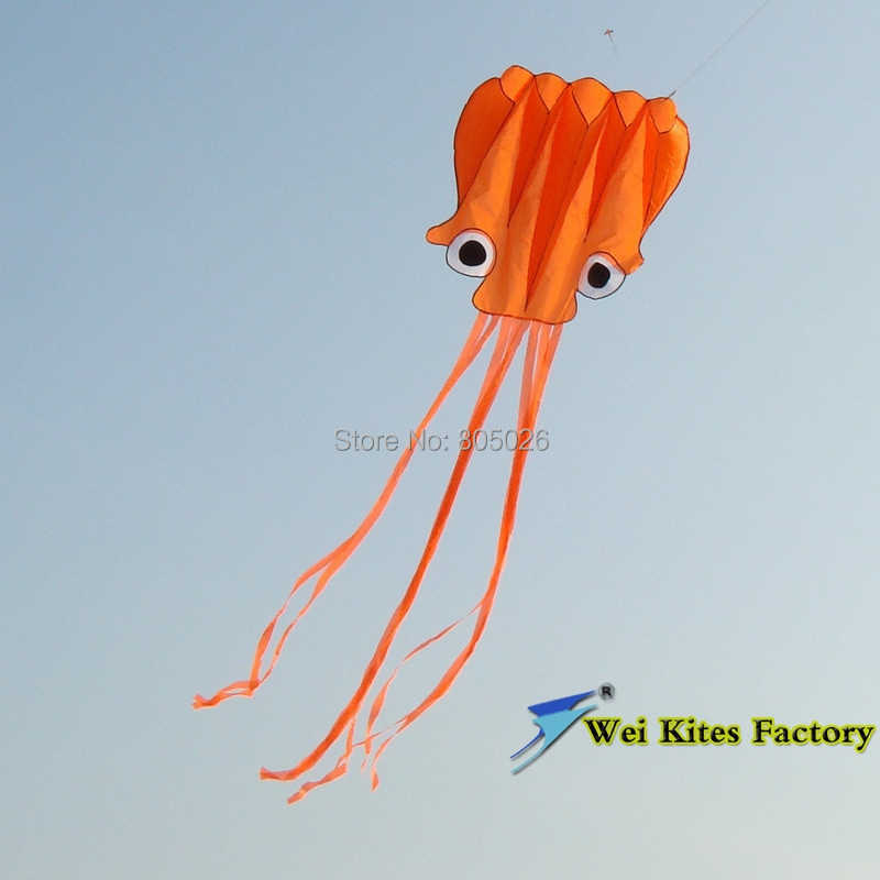 Toys & Hobbies Outdoor Fun & Sports Gentle Free Shipping High Quaity Soft Octopus Kite Various Colors Choose 6pcs/lot Easy Control Flying Higher Outdoor Toys Wei Kite Traveling