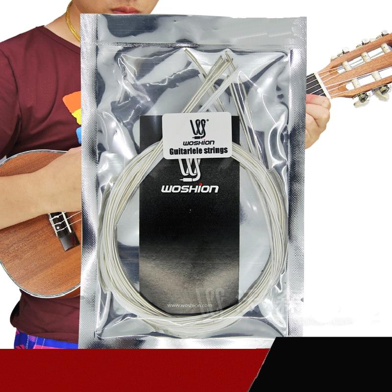 MoonEmbassy Guitar Ukulele Guitarlele Strings 1 Set of 6 String Accessories savarez 510 cantiga series alliance cantiga normal high tension classical guitar strings full set 510arj