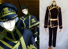 Free Shipping Brand New Costumes For 07 Ghost Empire's Military Mikage Cosplay Costume(China)