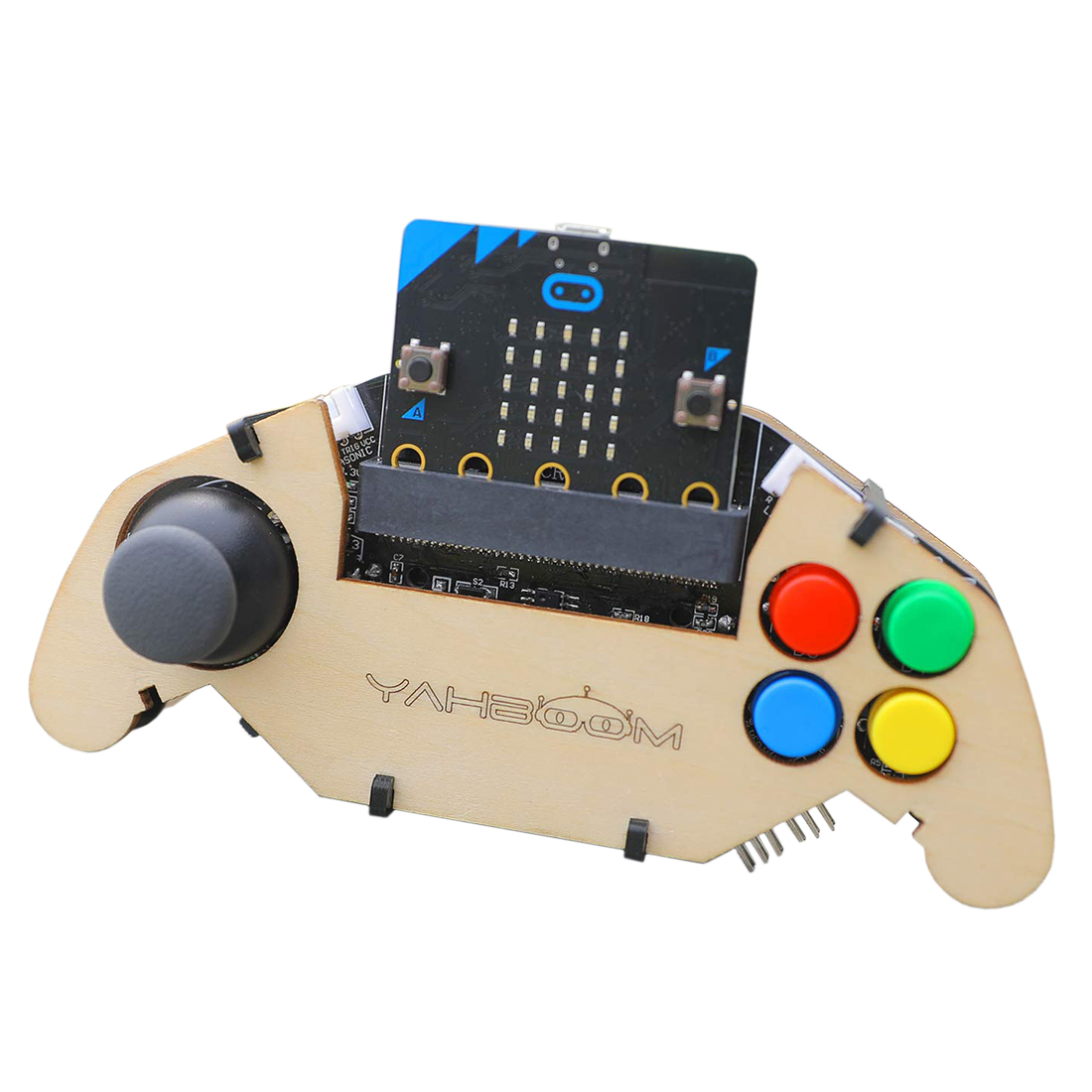 bit ASHATA Gamepad Expansion Board for BBC Micro Dual Channel Analog Output Micro Bit Expansion Buzzer,Game Music Gamepad Expansion Module with 4 Colorful Buttons and 2 Sided Keys