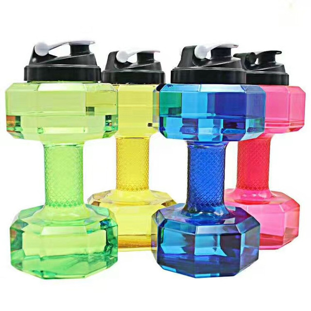 2.2 L Large Capacity Dumbbell Water Bottle For Gym 2
