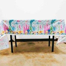 1pcs Luxury Kids Birthday Party Decoration Set Mermaid Ariel Theme Supplies Baby Disposable Tablecloth set