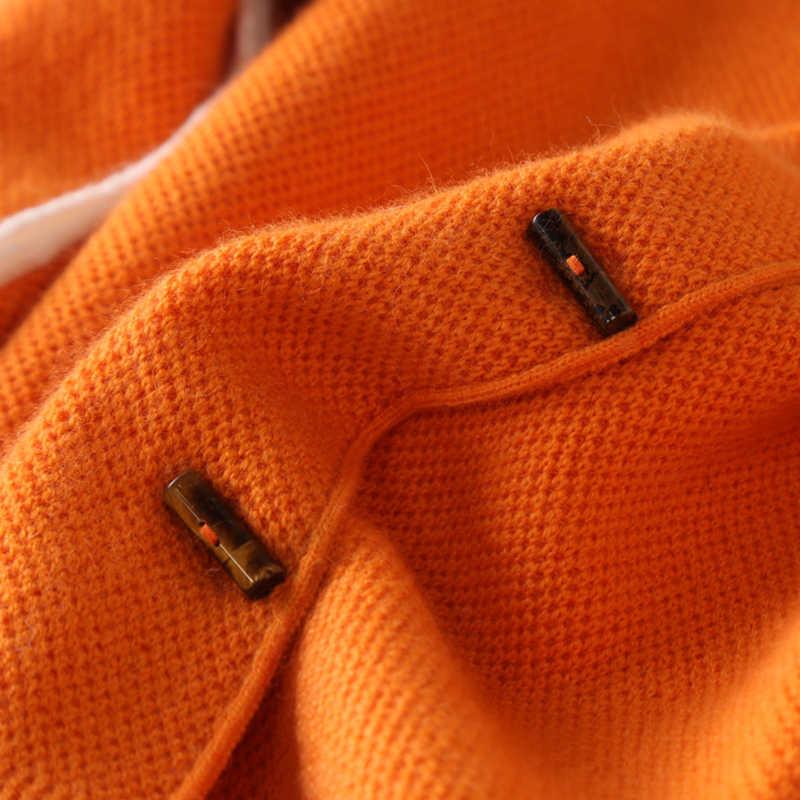 2017 Новый осенний и зимний кашемировый свитер вязаный кардиган дикий женский свитер, кардиган пальто тонкий кардиган бесплатная доставка