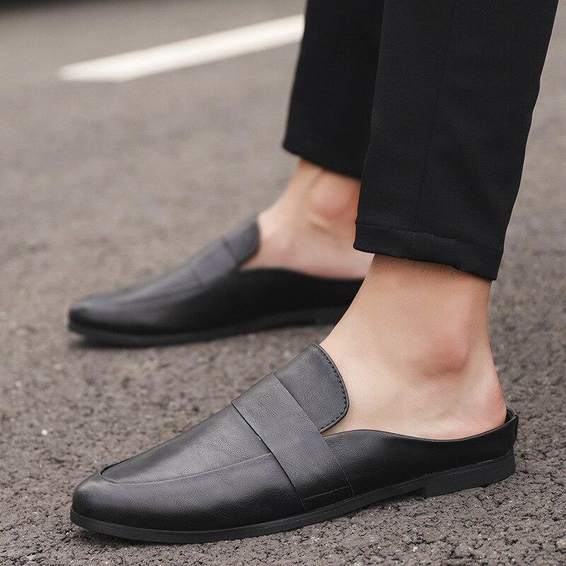Fashion Men Shoes All Black Summer