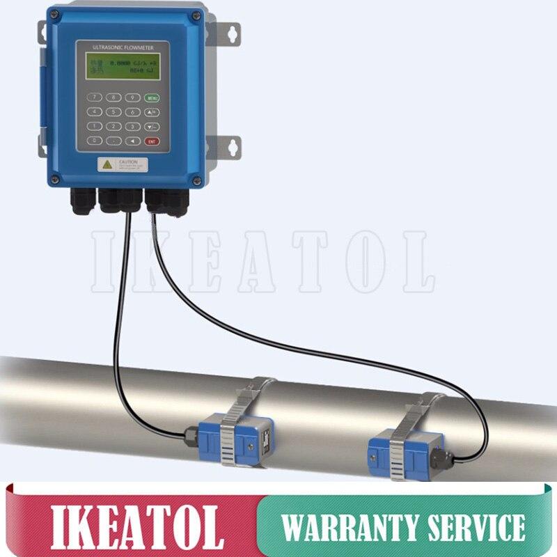 Ultrasons Débitmètre TUF-2000B PT-100 Compteur D'énergie Thermique TS-2 Transducteur DN25mm-100mm RS485 Modbus Sans Fil pour le contrôle industriel