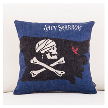 Pirates of the Caribbean Emoji Throw Messager Decorative Vintage Lumbar Pillows Cover Pillow Case Home Decor Family Kids Gift