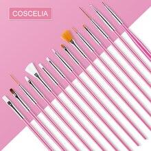 COSCELIA pincel para uñas, para manicura, pluma, delineador de flores, dibujo acrílico, UV, esmalte de Gel, diseño de 3D, herramientas DIY