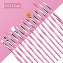 Cosceliaネイルアートの絵画のためのマニキュアペン花ライナー描画アクリルuvジェルポリッシュ3Dヒント設計ツールdiyセット