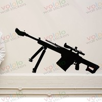 Free Shipping Wall Stickers Wholesale And Retail Wall Decor PVC Material Decals Wallpaper Weapons Gun B
