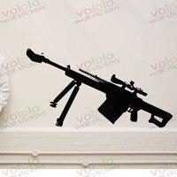 משלוח חינם חומר סיטונאי וקמעוני וול דקור pvc מדבקות קיר מדבקות טפט נשק אקדח b-146