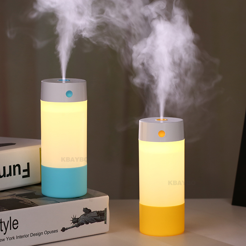 250ML Ultrasonic Air Humidifier USB Mini Aroma Diffuser Air Purifier LED Lights Car Humidifier For Home Car Office
