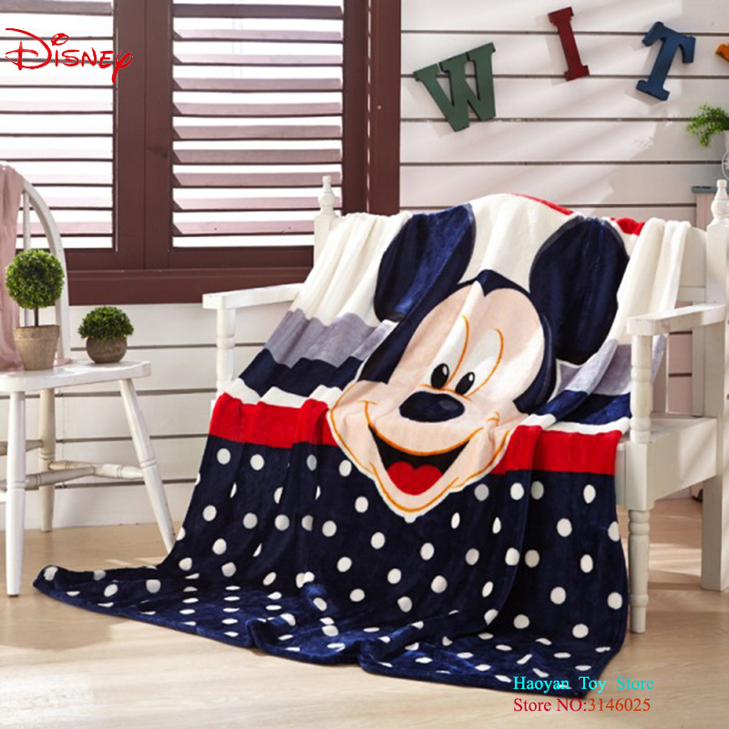Disney 150X200CM Cartoon Pink Minnie Mickey Mouse Soft Flannel Blanket Throw For Girls Children On Bed Sofa Couch Kids Gift Baby new 3d printed fox super warm flannel fleece sherpa plush double face blanket for sofa bed travel soft throw blanket fox plaids