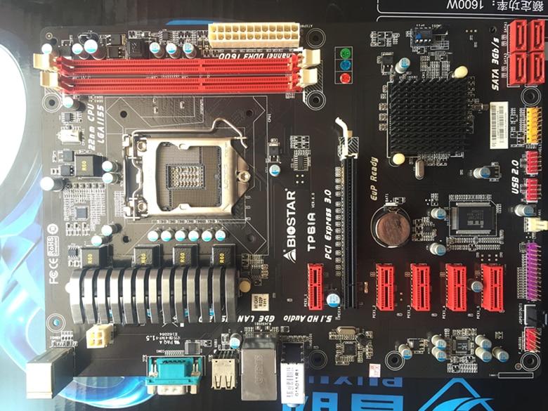 Free shipping original motherboard for Biostar TP61A 6 * PCIE socket LGA1155 DDR3 H61 mining motherboards free shipping original motherboard for asus p8p67 le ddr3 lga 1155 ram 32g motherboards sata3 0 usb3 0 mainboard