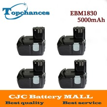 4X High Quality Power Tool Rechargeable Battery For Hitachi EBM1830 327730 BCL1815 DH18DL DS18DL DV18DL 18V 5000mAh Li-ion