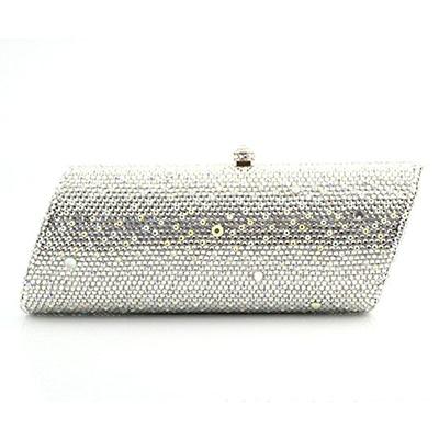 b927c3c104 Gift Box flat diamond plain Crystal Women Evening Purse Metal day Clutches  Bag Bridal Wedding Clutch