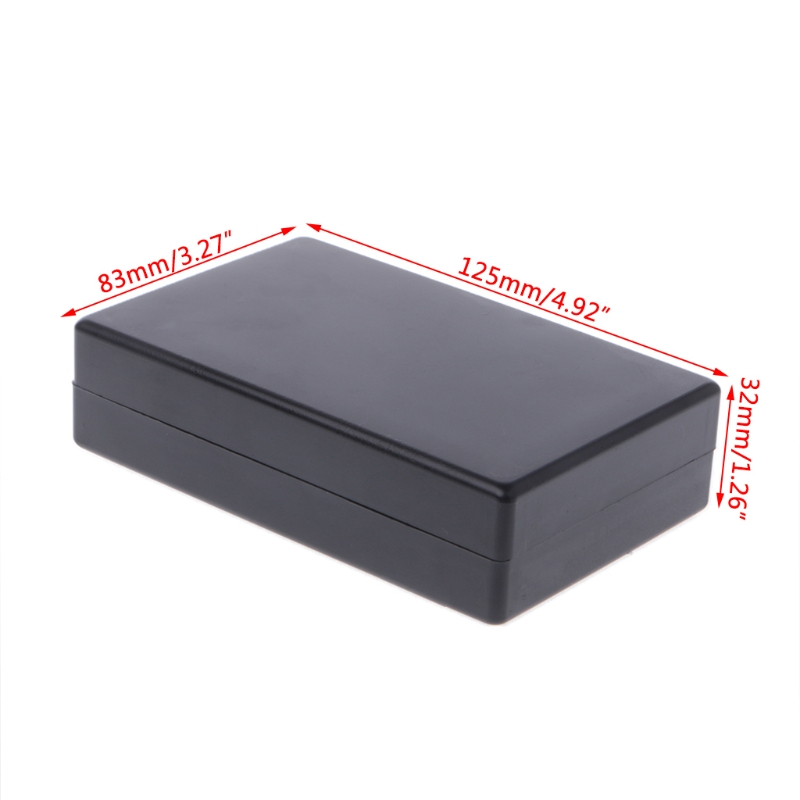 OOTDTY 125x83x32mm Black Waterproof Box Electronic Project Instrument Case Connector Plastic Electronic Project Box eglo connector box 91207