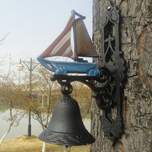 Marine crafts decoration iron bell sailing boat