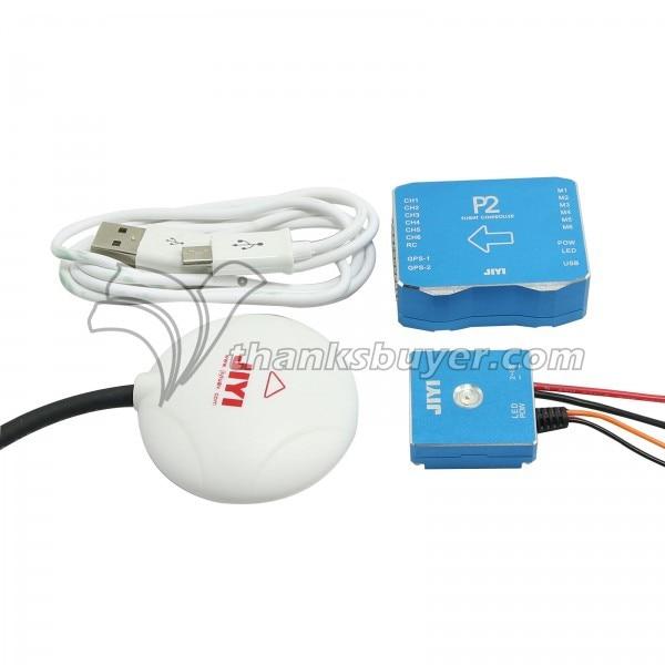 Jiyi P2 32Bit Processor Flight Controller with 10HZ U Blox GPS Combo for Quad Hexa Multirotors