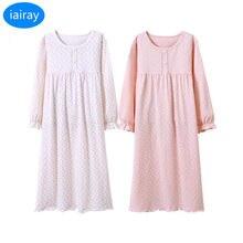 a270eb96e425 iairay 2pcs children pajams long sleeve casual loose cotton sleeping dress  2018 nightgowns for girls sleepwear kids nightdress