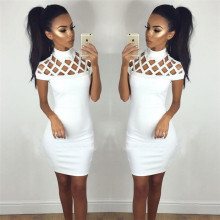 European and American New Wrapped Bandage Party Dress