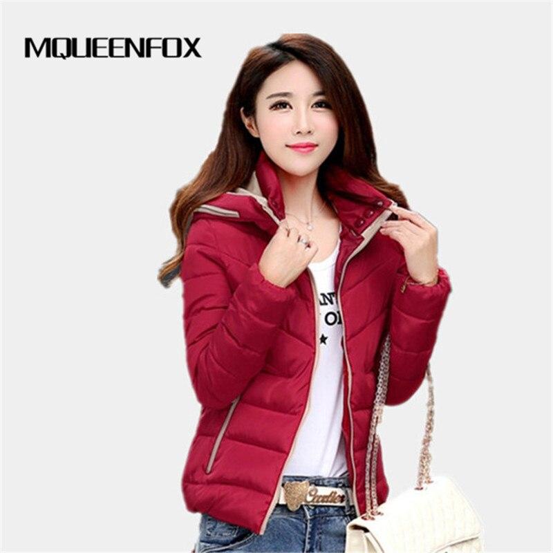 2019 New Autumn Winter Jacket Hooded Women Coat Thick Down Parkas Female Casual Jacket Warm Women Short Slim Winter Outwear
