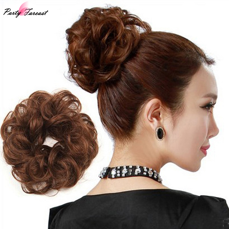 PF Wig Winding Hair Circle Elastic Hair Bands Bud Head Hair Accessories for Women Elegant Holder Plate Headband   Headwear   TS0941