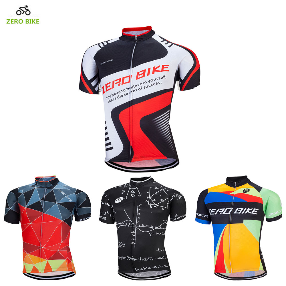 Prix pour Zerobike vente chaude 2017 hommes de vélo jersey 100% polyester à séchage rapide vélo clothing t-shirt roupa ciclismo 16 style