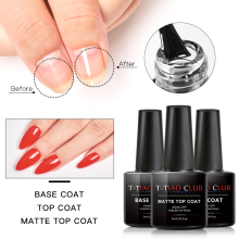 T-TIAO CLUB Base and Top Coat Gel Nail Polish UV Transparent Soak Off Primer Lacquer Art Manicure