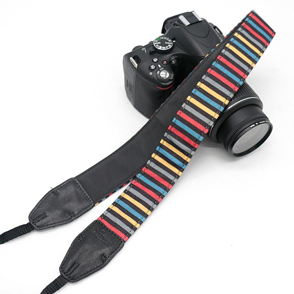 Color Striped LE-05 Camera Shoulder Strap For SLR DSLR For Canon Nikon Sony Camera free shipping