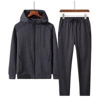Свободный спортивный костюм для мужчин 7XL 8XL, комплекты с капюшоном, зимняя спортивная одежда больших размеров, новинка 2019, флисовый термаль