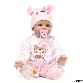 55 cm NPK Collection Reborn Baby Doll Soft Silicone For Girls Gift Handmade Baby Adorable Lifelike Toddler May06