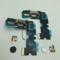 For phone 7 USB Charging Port Dock Connector Flex Cable with fingerprint damaged Parts Replacement for mobile phone repair