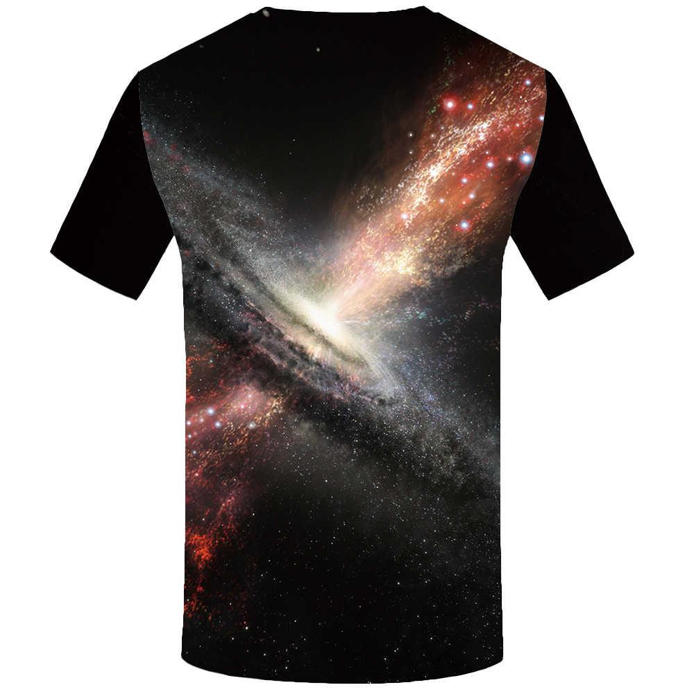 3d T-shirt Galaxy Raum T shirt Männer Nebula T-shirt Gedruckt Blitz Hemd Drucken Bunte T-shirts 3d Psychedelic T-shirts Casual