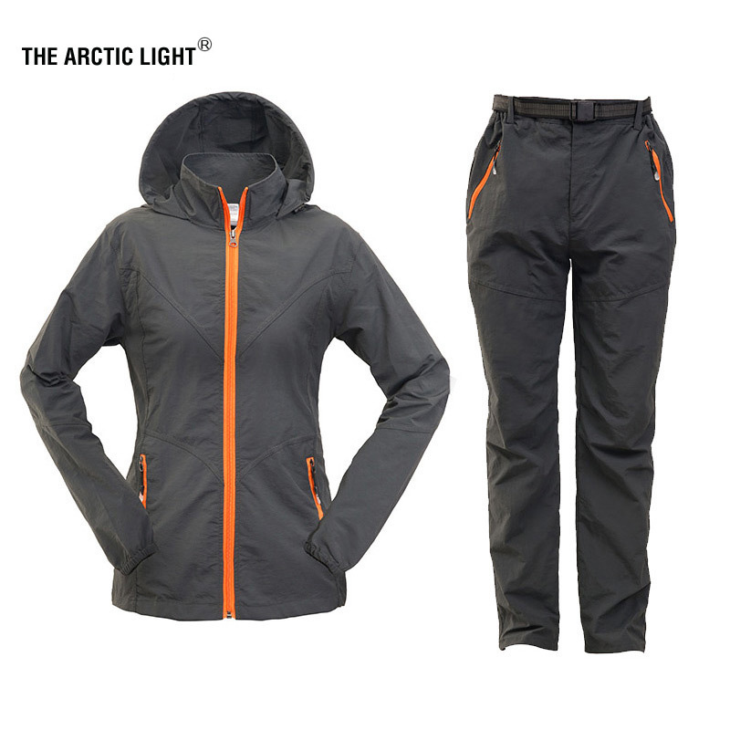 THE ARCTIC LIGHT Hiking Shirt Pants Women Child Outdoor Sun Protection Quick Dry Sports Suit Breathable