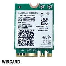 بطاقة WIRCARD لثنائي النطاق AX200 2400Mbps لاسلكي AX200NGW NGFF M.2 بلوتوث 5.0 بطاقة شبكة Wifi 2.4G/5G 802. 11ac/ax