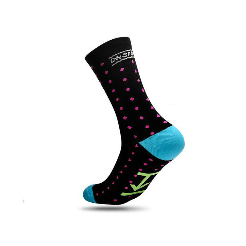 Cycling Socks Men Women Anti-sweat Outdoor Sports Running Basketball Sport Socks Bicycle Bike Socks Calcetines Ciclismo 5 Colors soumit 5 colors professional yoga socks insoles ballet non slip five finger toe sport pilates massaging socks insole for women
