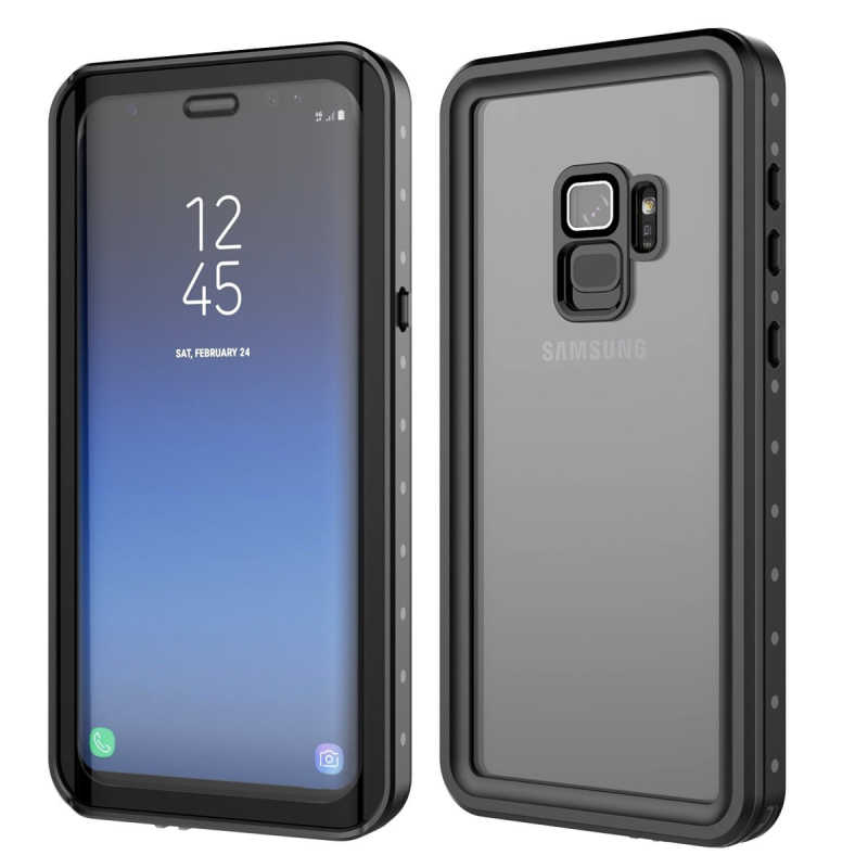 low priced 55c9d 5bf87 Waterproof Case for Samsung Galaxy note 9 note 8 S7 edge S8 S9 Plus  Transparent Shockproof Cover For iPhone 7 8 X 6S 6 coque