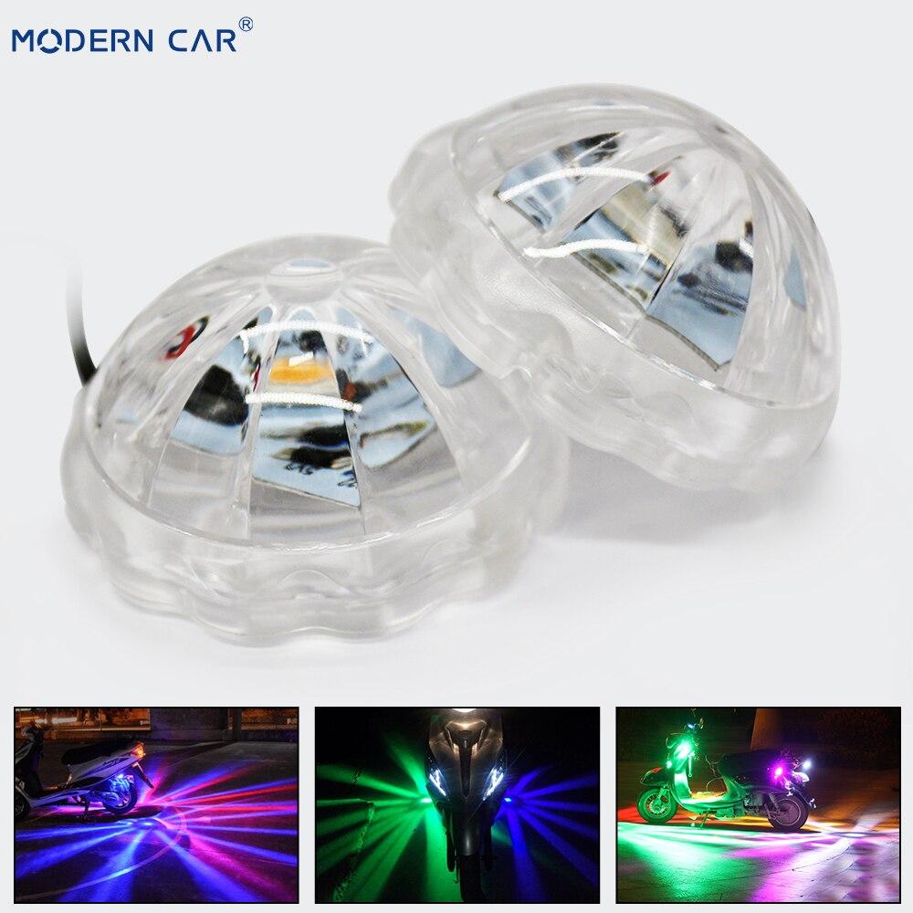 MODERN CAR Motorcycle Lighting LED Atmosphere Lamp Motor Chassis Light Under Motorbike Flash Strobe Decorative Lamps Headlights