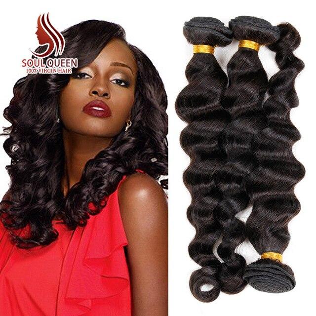 Raw Peruvian Virgin Hair Loose Wave Hair Extension Weaving Ali Soul