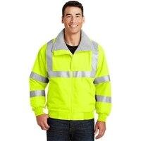 Порты и разъёмы Authority SRJ754 мужские повышенной видимости Челленджер куртка со светоотражающей лентой безопасности желтый и светоотражающие