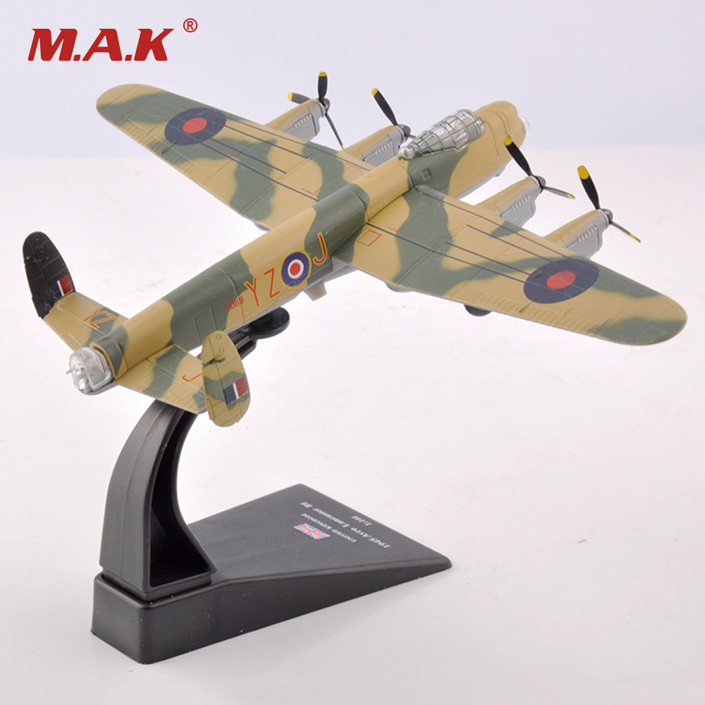 1/144 United Kingdom Heavy Bomber 1945 Avro Lancaster BI Fighter Diecast Airplane Models Toys Gifts   Collections